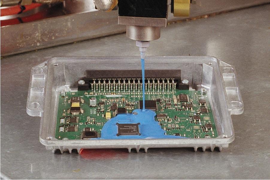 flytande silikon för inkapsling av elektroniska komponenter