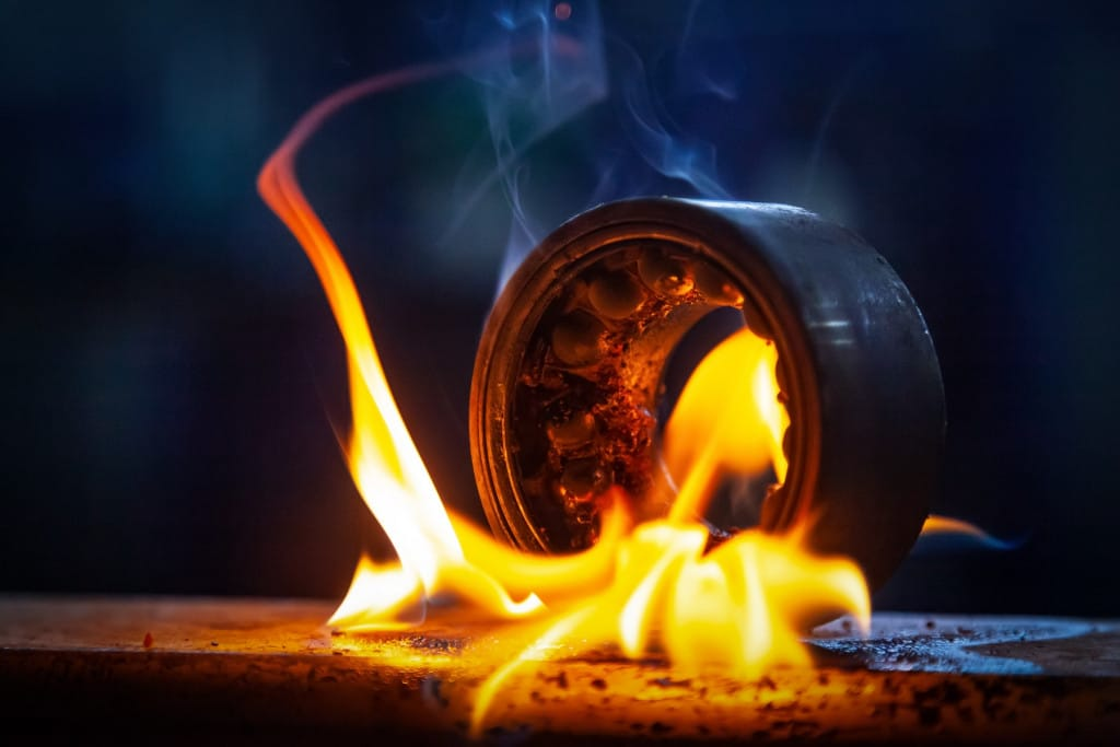 högtemperaturolja baserade på perflourerade polyetrar